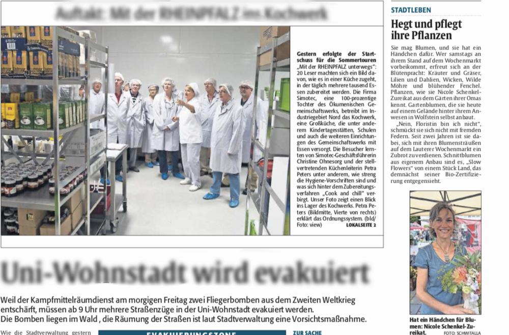 Die Rheinpfalz - 30.07.2015 Hegt und pflegt ihre Pflanzen
