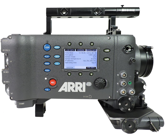 ARRI Alexa CLASSIC - 1- ARRI Alexa EV Camera Body w/ High Speed License- PL mount, AB gold mount battery mount1- Anton Bauer sandwich plate w/ 4 Ptap outputs1- AbelCine 24V power supply and osha cable1- 10ft 24V 3-pin power cable6- 64GB SxS Pro cards w/ cases1- Sony USB 3.0 SxS card reader w/ USB cable1- Sonnet SxS card reader w/ thunderbolt cable1- Bridgeplate BP-9 (15mm studio support)1- ARRI BPA-2 bridgeplate adapter1- 12