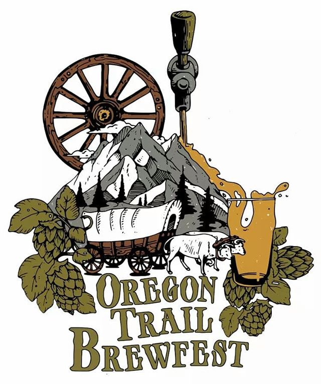 Nothing like an awesome logo with a mountainside beer pour! 🍻 #oregoncity #oregontrail #brewfest #oregon #beer #mountains #oregontrailbrewfest #pour #cheers #summer #events