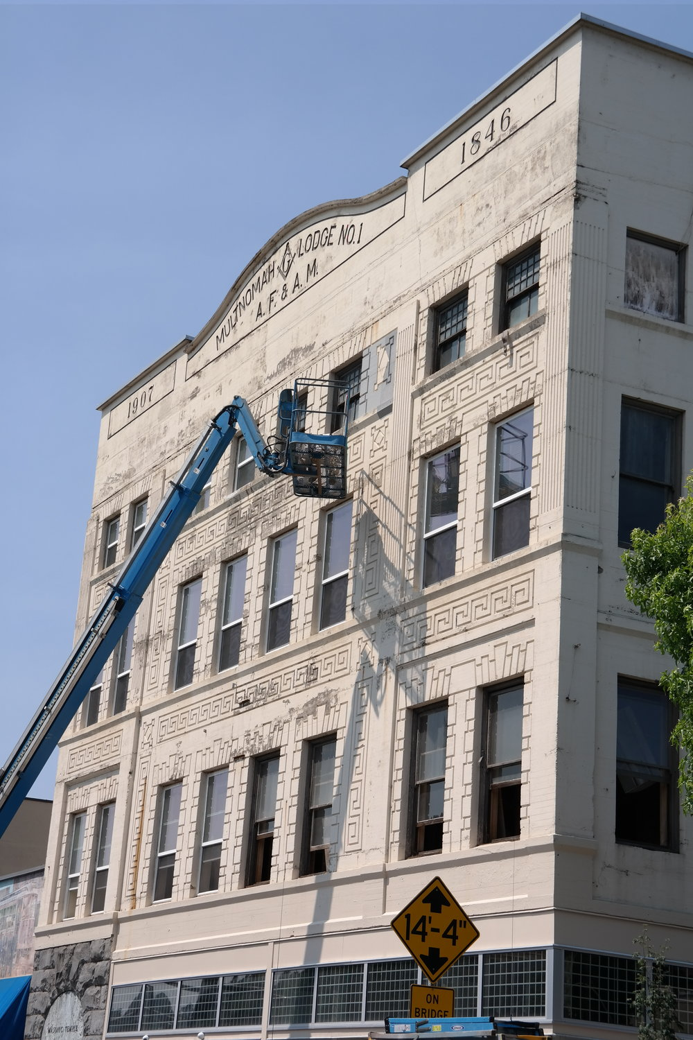 The Masonic Building is repainted in 2014 with the support of a grant that DOCA advocated for.
