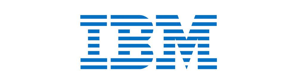 Proximity logo example: Paul Rand's IBM logo.