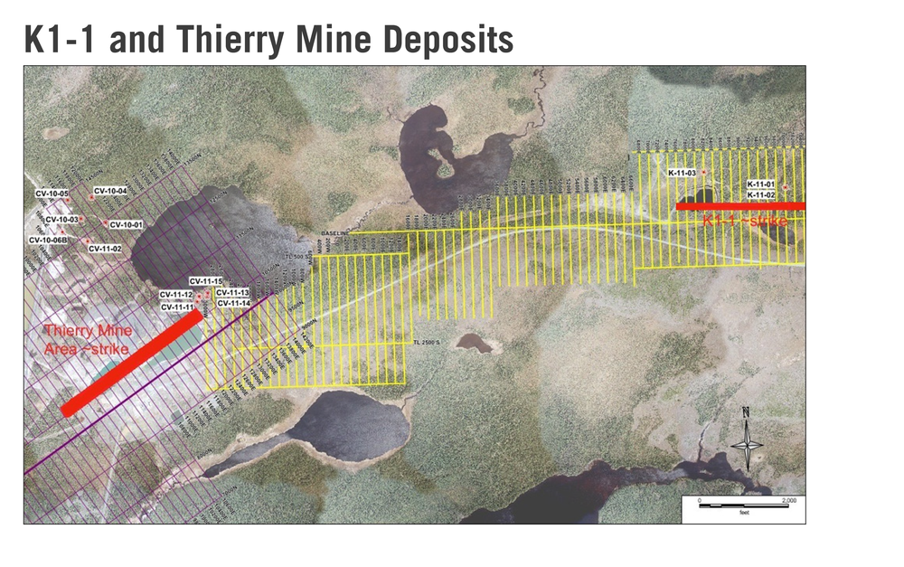 K1-1 and Thierry Mine Deposits