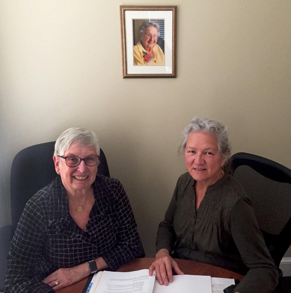 Carol Wishcamper (L) and Gail Dana-Sacco (R)