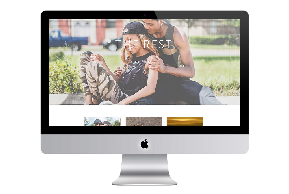 Custom Modern Squarespace Wedding Website Design Showing Full Screen Photos