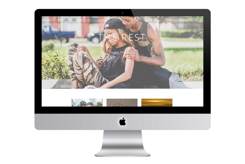 Custom Modern Squarespace Wedding Website Design Showing Full Screen Photos