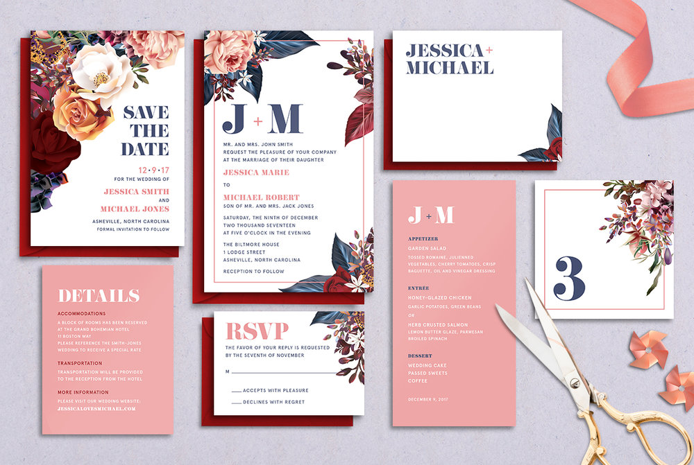 Semi-Custom Suites | That Joy - Custom Wedding Invitation Design ...
