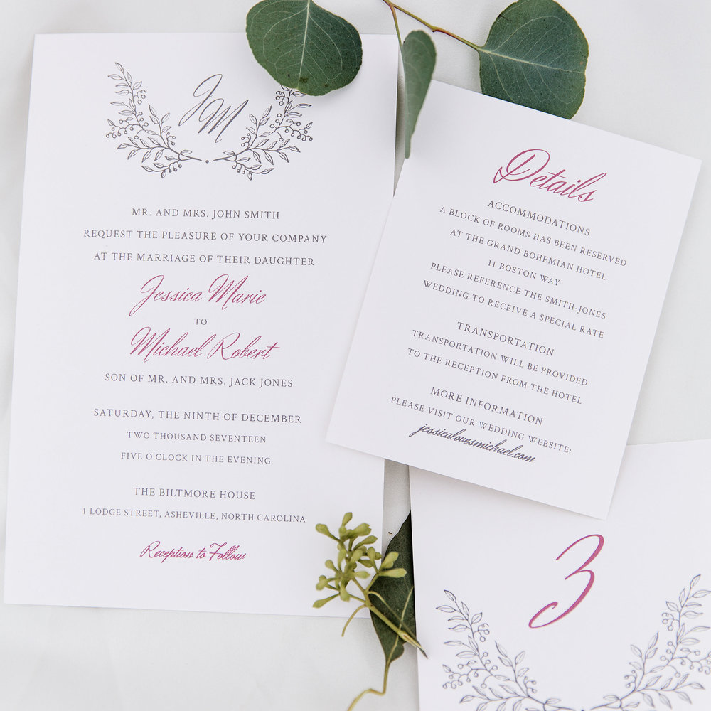 Invitations and Save the Dates | That Joy - Custom Wedding ...