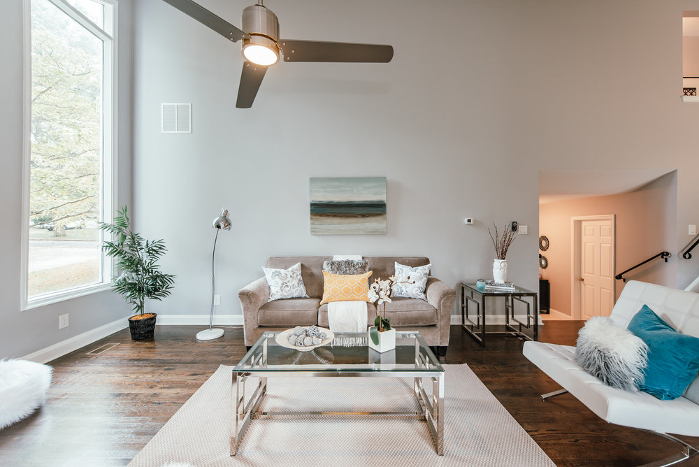 + POLISH - Buyers value homes in turn-key condition, and flooring is high on the wish list. Buyers love clean flooring, especially if it's a beautiful hardwood. Remove rugs and arrange furniture to showcase your floors. Don't cover up beautiful floors.