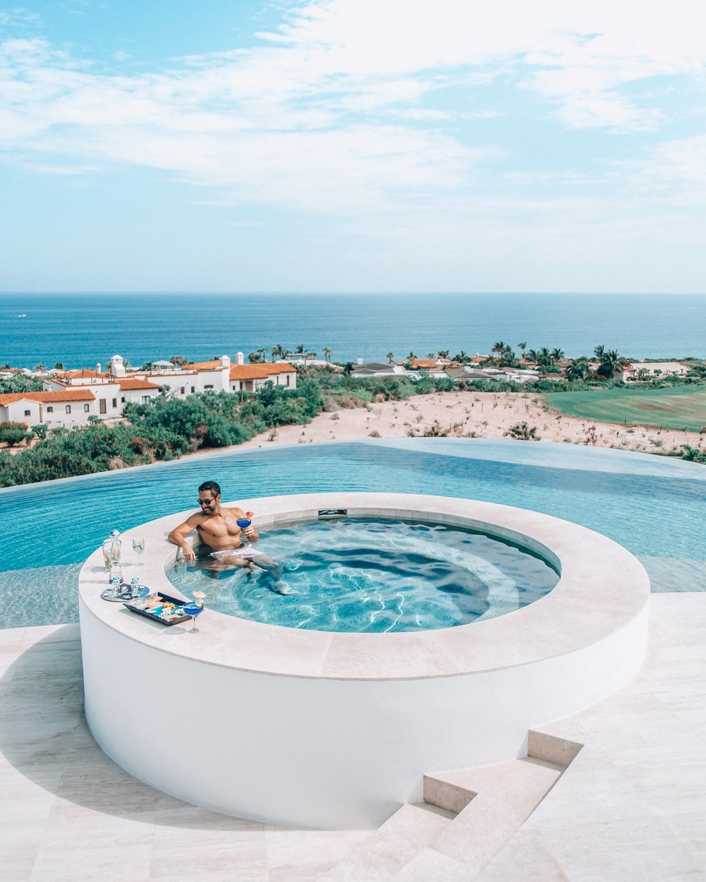 The infinity pool and jacuzzi is where I spent most of my time at Casa Yvonne.