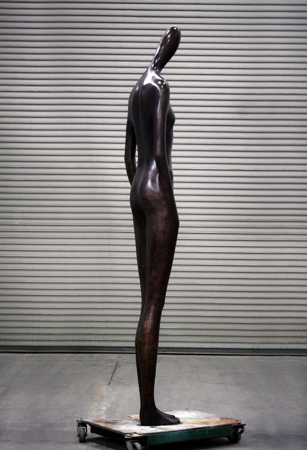 Andromache  .  2015 . Bronze . 85 x 12 x 17 in
