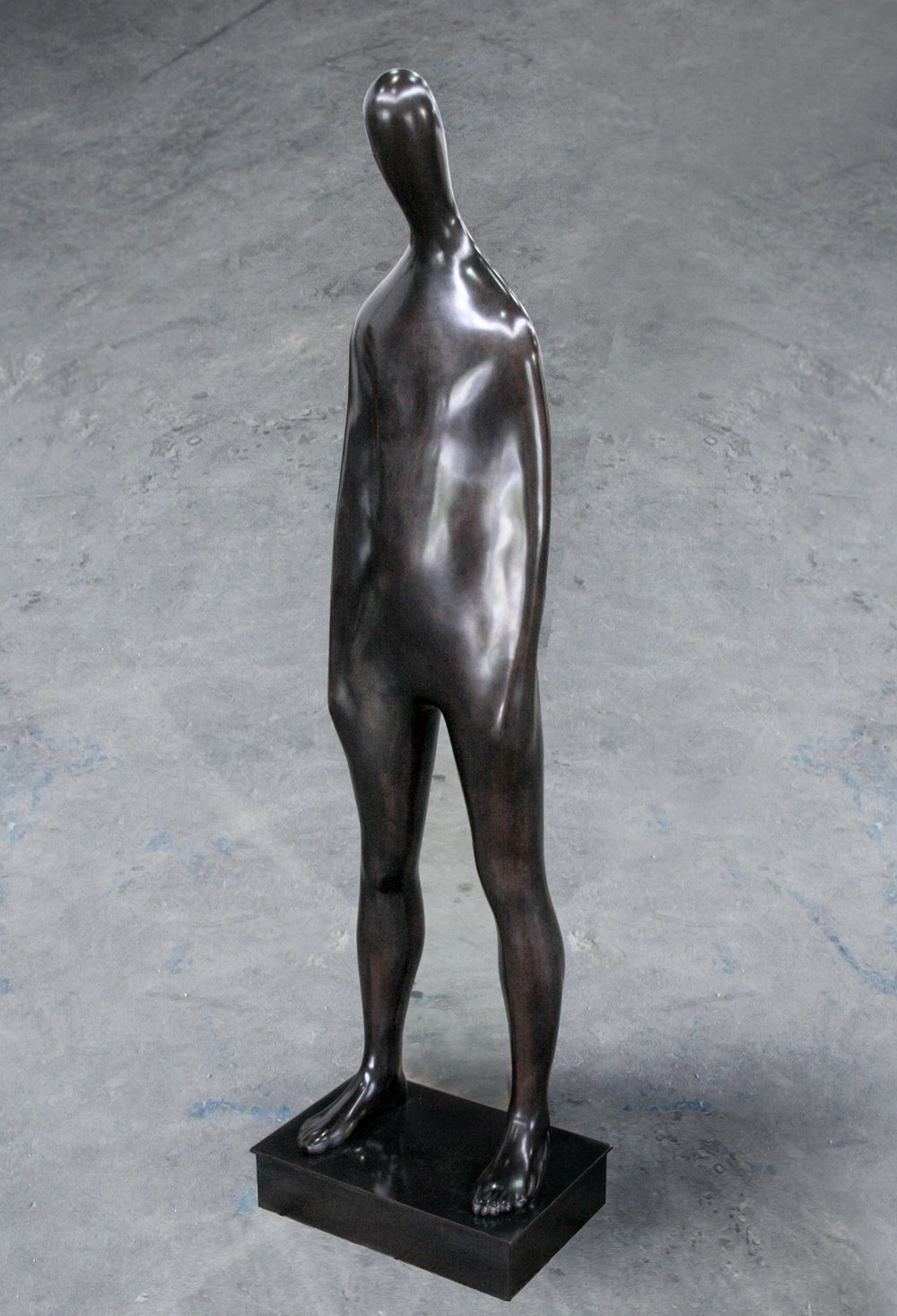 Soliloquy  .  2014 . Bronze . 60 x 17 x 10 in