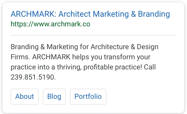Archmark Google Meta Descriptions
