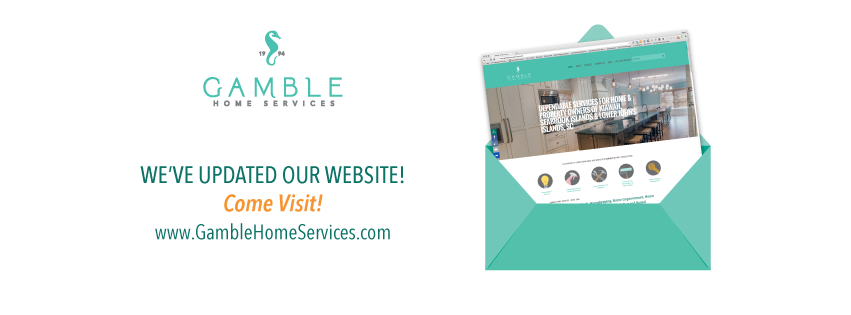 Website announcement graphic for Gamble Home Services