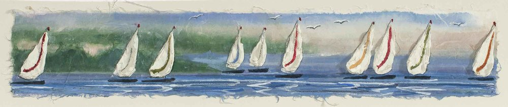 Summer Sailboats 8x20