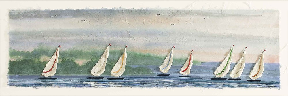 Summer Sailboats 10x24