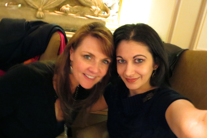 Amanda and Sabrina in January 2013.