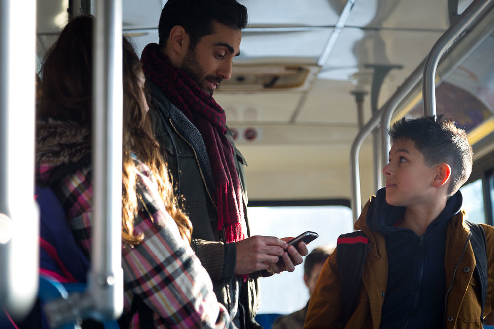 Ashé Sabongui, Lee Majdoub, and Bodhi Sabongui in a still from  The Prince .