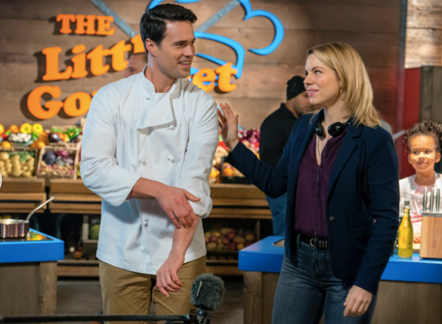 Brett Dalton and Ali Liebert in  Cooking with Love .