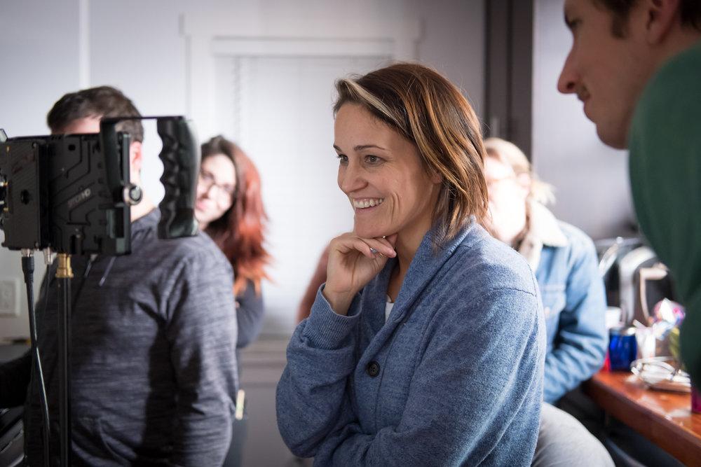 Luvia Petersen directing  Dog Bite . Jessie Robertson photo