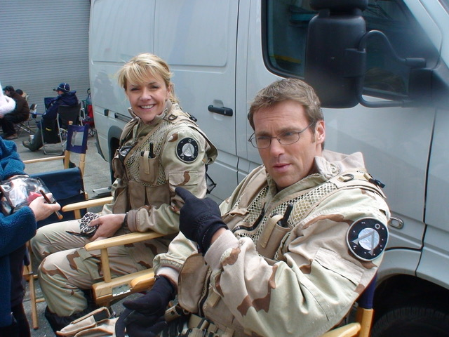 Amanda Tapping and Michael Shanks. Photo courtesy of Joseph Mallozzi