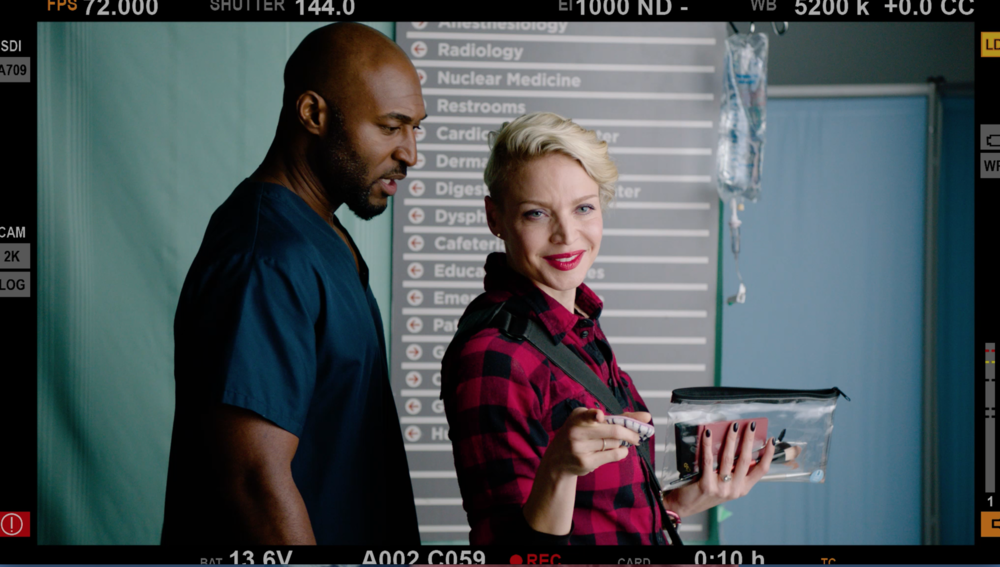 Adrian Holmes and Kristin Lehman in  Hospital Show .