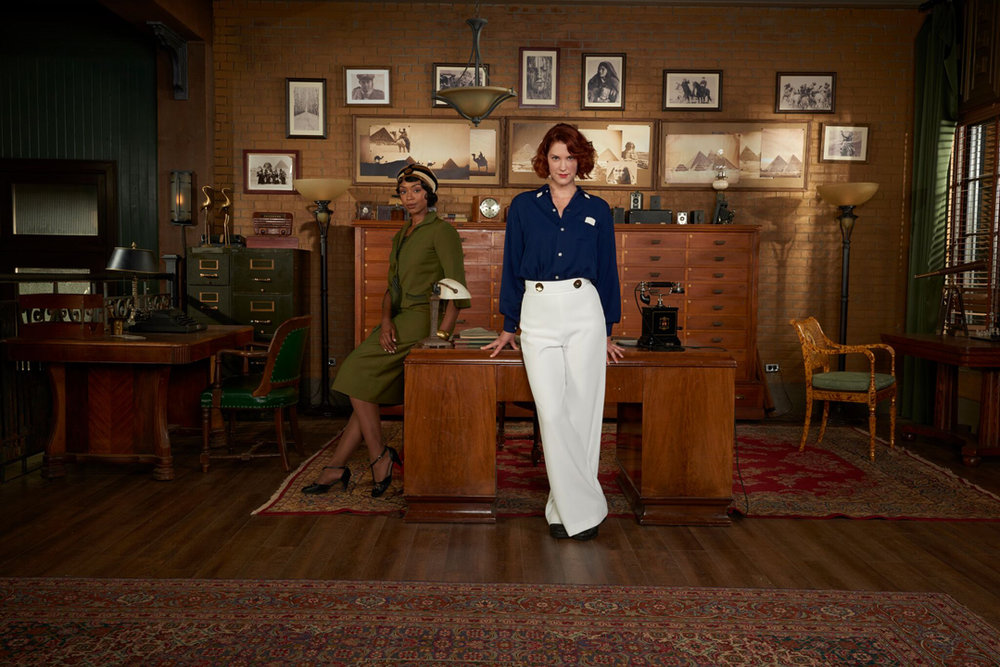 Chantel Riley and Lauren Lee Smith play a couple of sleuths on  Frankie Drake Mysteries.