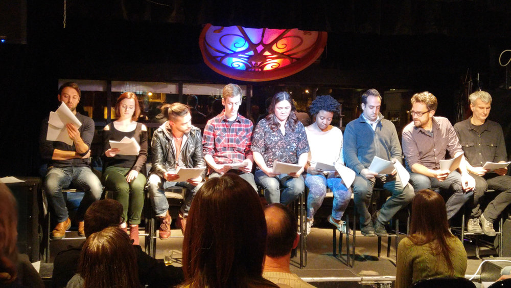 Actors making magic at the Cold Reading Series.