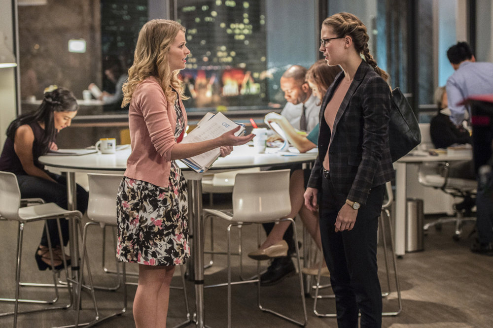 Andea Brooks and Melissa Benoist on  Supergirl.  Photo courtesy of The CW and Warner Brothers