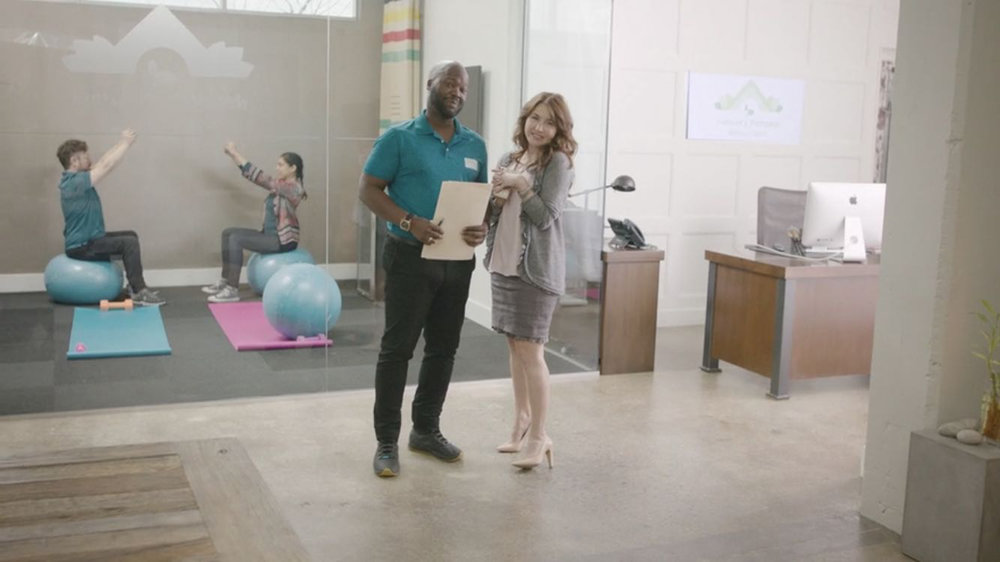 Viv Leacock and Erin Karpluk in a still from  Wellness . Contributed photo