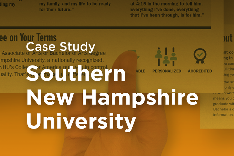 SNHU Southern New Hampshire University Case Study Thumbnail