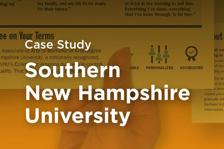 SNHU Southern New Hampshire University Case Study Thumbnail