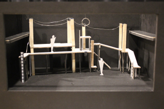 Robinson's set model from the front of  Pippin , 2017