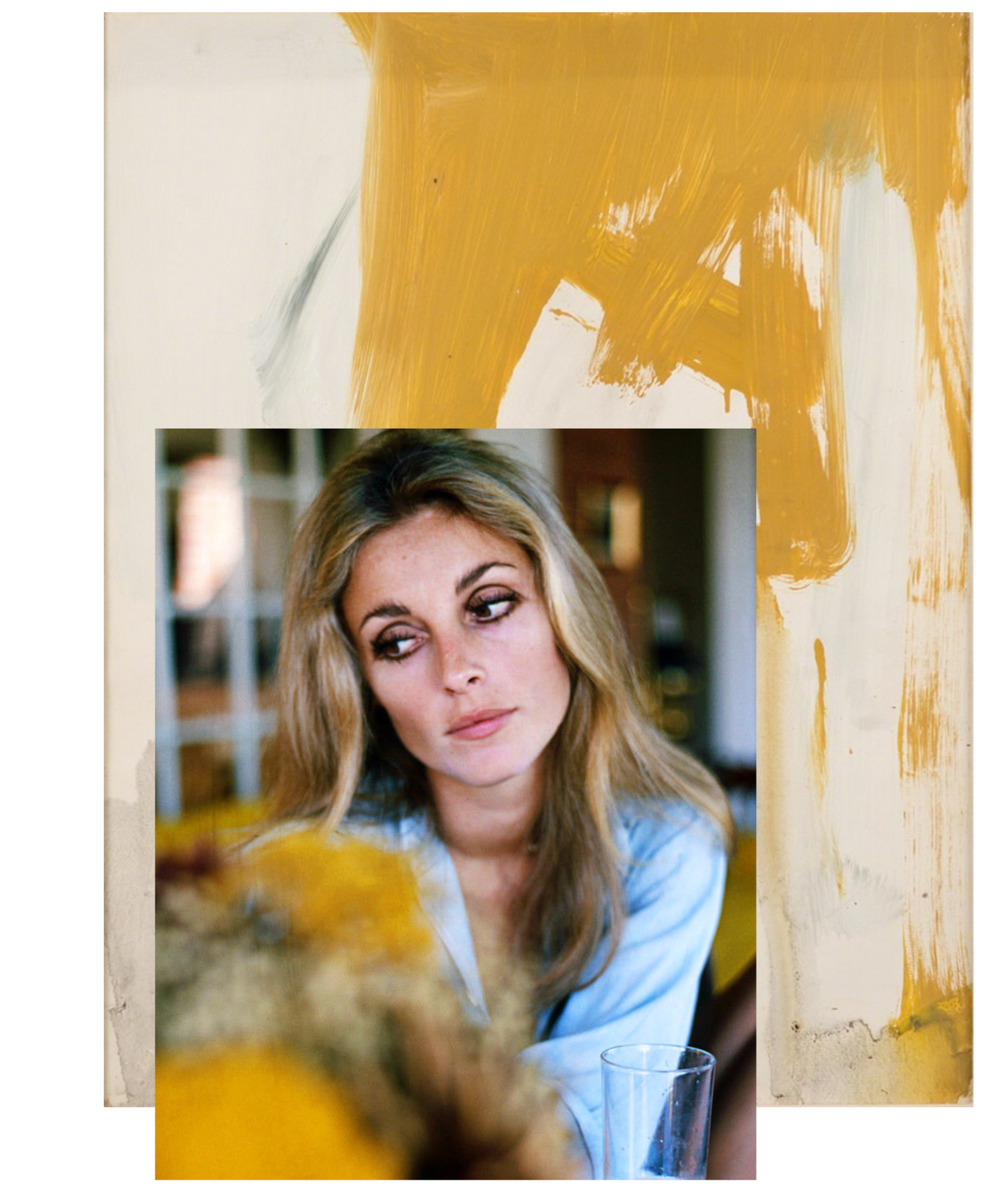 Sharon Tate / Franz Kline, Ochre and Grey Composition 1955