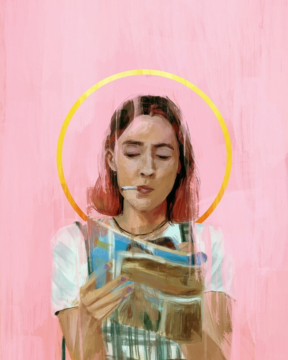 """You're not gonna get in a car with a guy that honks, are ya?""~Lady Bird - Illustration by Relly Coquia"