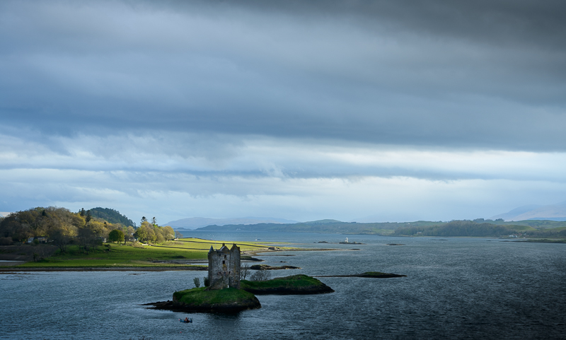 Castle Stalker is a beautiful 14th century castle located in the Highlands of Scotland, more specifically on Loch Linnhe. It was brought to fame it appeared in  Monty Python and the Holy Grail .