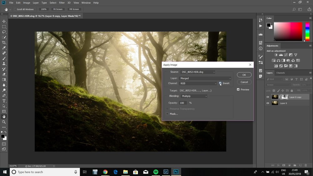 orton effect in landscape photography