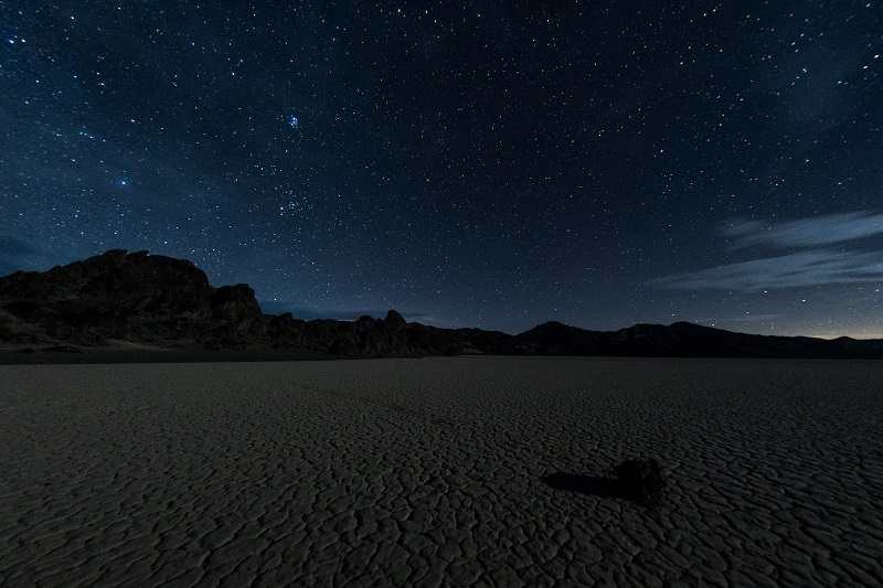 Death Valley's dramatic expanse of desert makes for some interesting subject matter beneath one of the United States' darkest night skies.