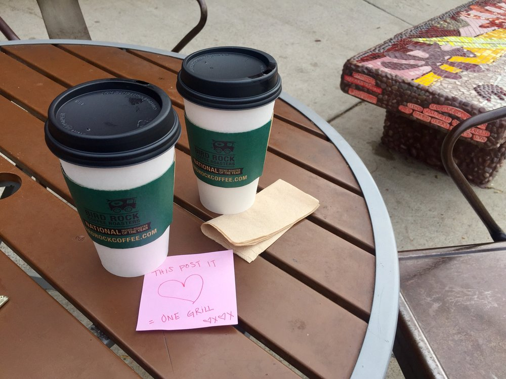 BIrd Rock Coffee Shop Love Notes