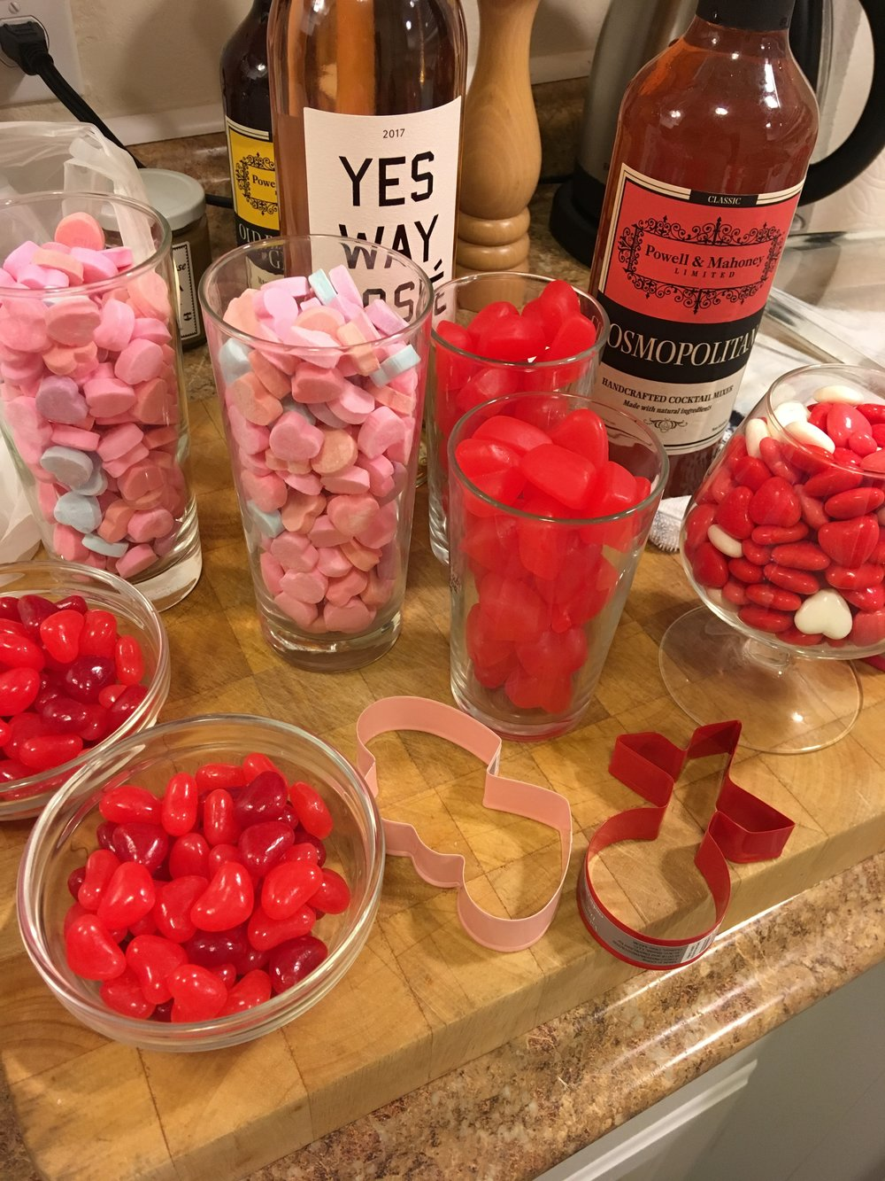 Valentine's Day Party - Candy for Cookie Decorating.JPG