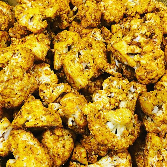 Thanks @holli.bassin for the anti-inflammatory inspiration! Roasted cauliflower with ginger, turmeric, salt, and black pepper this week! #cauliflower #roastedveggies #whole30 #veggies #PaleoYum #turmeric #antiinflammatory