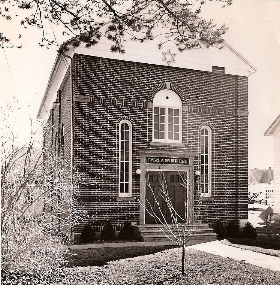 Congregation Beth David, as it looked in 1929