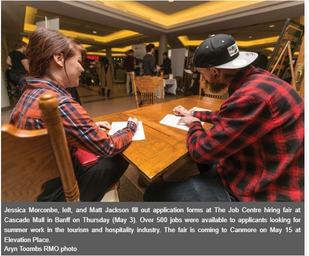 - Rocky Mountain Outlook - BANFF – The Job Resource Centre's spring hiring fair has set a new record for jobs available, increasing from 350 last spring to over 500 this year. Read more.