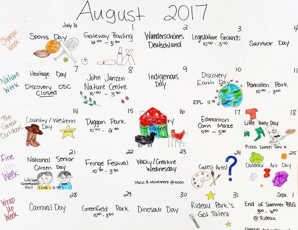 Summer Plans August 2017
