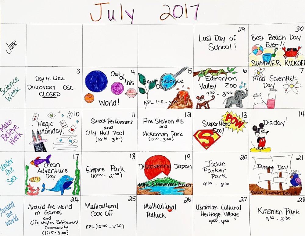 Summer Plans July 2017