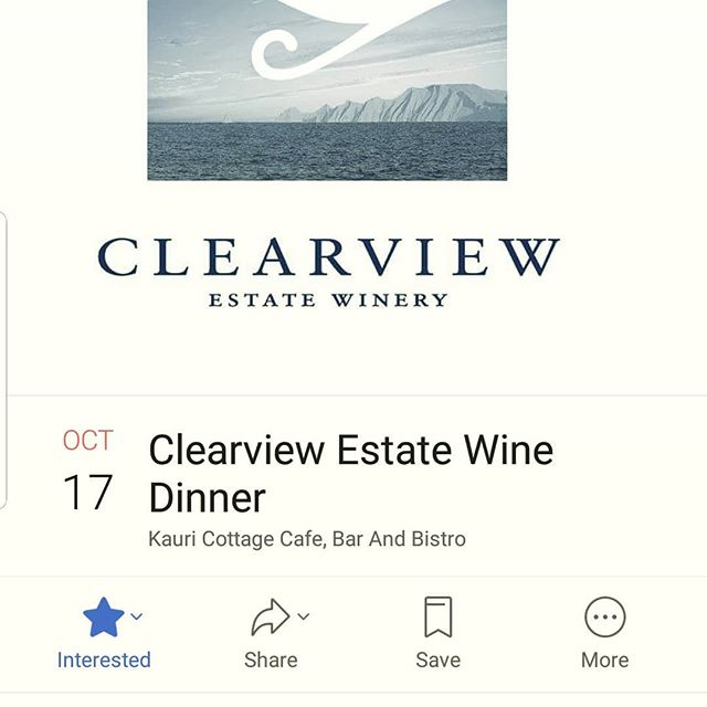 This event will be epic. For ticket please check our website. #kauricottage #EgmontDining #Clearviewwinedinner
