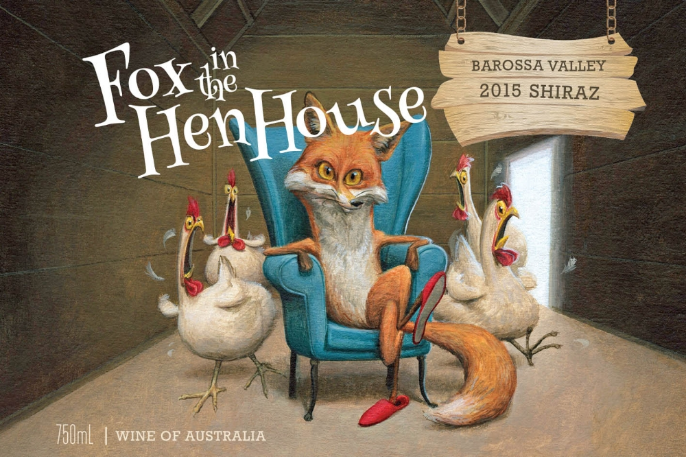 2015 Barossa Valley Shiraz - Fox in the Hen House Barossa Valley Shiraz is rich, dense and intense with an inky, mulberry- hue. A subtle and sophisticated nose leads to a powerful palate of ripe black cherries and the darkest and richest chocolate, integrated with ripe dark juicy plum flesh, traces of freshly ground coffee beans, hints of black olive, peat and aniseed. Textural and well-balanced, this wine features mildly smooth tannins, leading to a powerful but harmonious finish.