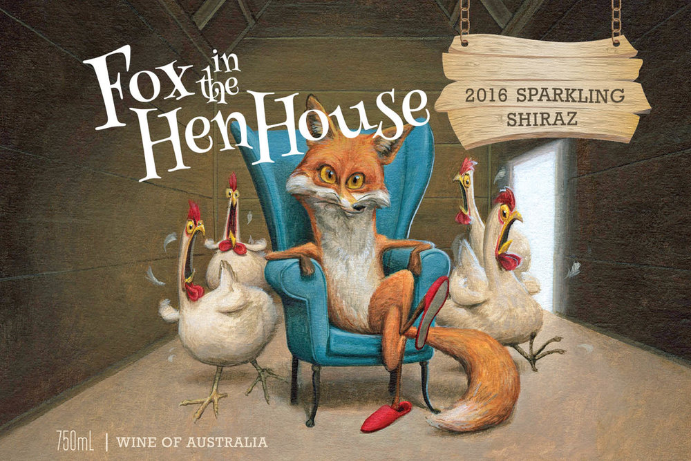 2016 Sparkling Shiraz - Fox in the Hen House Sparkling Shiraz has a saturated deep burgundy colour with a crimson hue and an abundance of aromas that include fresh black current preserves, dark strawberry and blackberry jam, surrounded by underlying hints of butterscotch, menthol and spice. The palate is lively, refreshing and medium-bodied, comprising sweet berry fruits, ripe plums and cassis, with hints of chocolate, molasses, caraway seed and fennel. Abundant fine bubbles lift the fruit and spice characters, ending with an attractive, long finish.