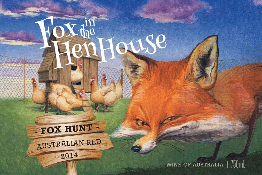 2014 Fox Hunt Australian Red - Fox in the Hen House 'Fox Hunt' Australian Red has a bright crimson hue that is lively and deep. Dominated by Shiraz, the aromas are of boysenberry and blueberry jam with clove and pepper characters adding complexity, along with subtle hints of mocha. The Cabernet component add a rich cassis and tobacco notes. The palate is full and rich showing ripe dark berry fruit, which has integrated well with some superb silky tannins. Cocoa and mocha oak flavors follow through the palate, complimenting the berry fruit.