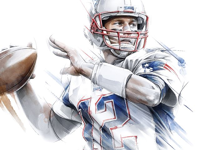 We don't know what's better... Patriots back out on the field or seeing our art at #patscamp . . . #patriots #pats #tombrady #brady #football #nfl #newenglandpatriots #instafootball #fans #newengland #tom #instanfl #instagame #illustration #design #yearbook #art #artistsoninstagram #designinspiration #pilotstudio @patriots @nfl @tombrady