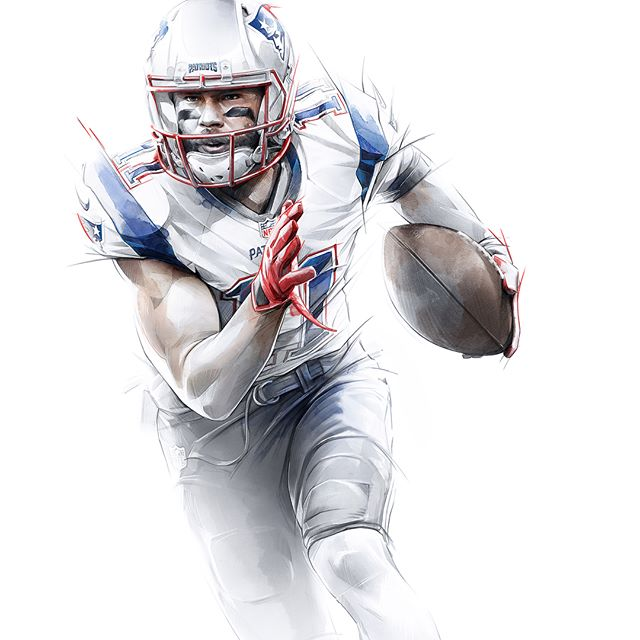 The Art of Winning : The @patriots are a world class organization and also proved that they can be a world class partner. It was a huge pleasure working with the team at the Patriots to create a series of illustrations to be used on promotional material for this upcoming season - more to come . . . #patriots #newenglandpatriots #football #illustration #designers #designinspiration #artistsoninstagram #patsnation #pats #edelman #gronk #gronkowski #tombrady #brady #nfl #instafootball #danperillo #pilotstudio @edelman11 @gronk